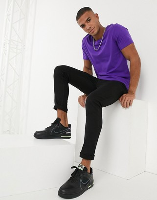 ASOS DESIGN t-shirt with scoop neck in purple