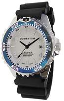Momentum Women's Quartz Stainless Steel and Rubber Diving Watch, Color:Black (Model: 1M-DN11LT1B)