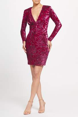 Dress the Population Riley Plunge Neck Sequin Sheath Dress