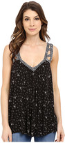 Lucky Brand Geo Embroidered Tank Top