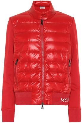 Moncler Cotton-jersey down jacket