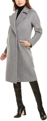 Les Copains Long Wool Coat