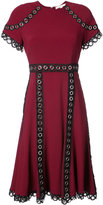 Jonathan Simkhai eyelet embellished short sleeved dress