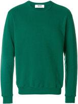 MSGM frayed logo sweatshirt