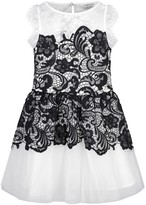 GUESS Marciano White Tulle & Black Lace Dress