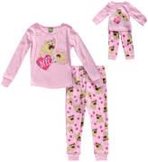 Dollie & Me Pink 'BFFs' Pajama Set & Doll Outfit - Toddler & Girls