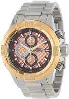 Invicta Men's 12372 Pro Diver Chronograph Rose Textured Dial Stainless Steel Watch