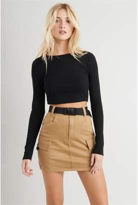 Garage Belted Cargo Mini Skirt