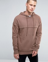 SikSilk Hoodie With Raw Edges