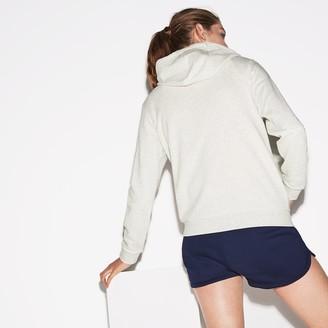 Lacoste Womens SPORT Full-Zip Fleece Hoodie