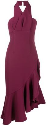 Keepsake Asymmetric Ruffle Hem Dress