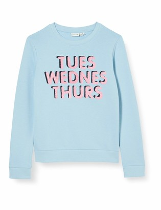 Name It Girl's Nkfbinie Ls Sweat Unb Sweatshirt