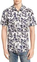 7 Diamonds Magnificent Floral Print Sport Shirt