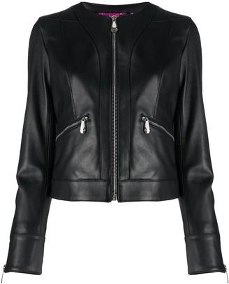 Philipp Plein Zipped Leather Jacket