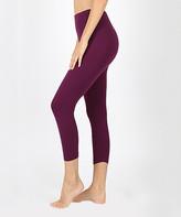 Zenana Women's Leggings DK.PLUM_IPB - Dark Plum Capri Leggings - Women & Plus