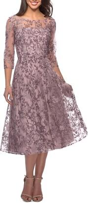 La Femme Lace Cocktail Dress