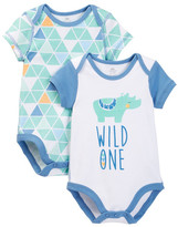 Boppy Rhino Bodysuits - Set of 2 (Baby Boys)