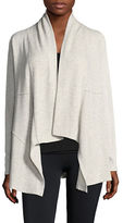 Calvin Klein Performance Ribbed Sleeve Waterfall Cardigan