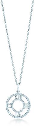 Tiffany & Co. Atlas open pendant in 18k white gold with diamonds, small