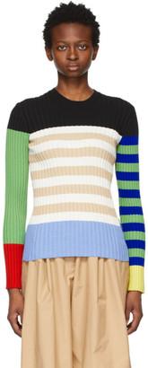 MONCLER GENIUS 1 Moncler JW Anderson Multicolor Colorblock Logo Sweater