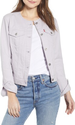 Levi's Collarless Denim Trucker Jacket
