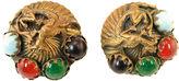 One Kings Lane Vintage Dragon & Faux-Gemstone Earrings