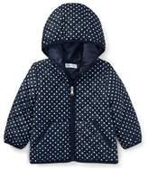 Ralph Lauren Matte Polka-Dot Zip-Up Hooded Jacket, Blue, Size 9-24 Months