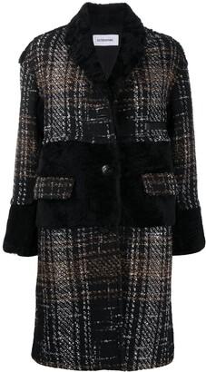 Sylvie Schimmel Tweed Fur-Trim Coat
