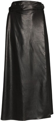 Markoo Aline faux leather skirt