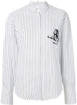 MSGM pinstriped shirt with embroidered logo