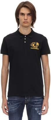 DSQUARED2 COTTON PIQUE POLO W/ PATCH