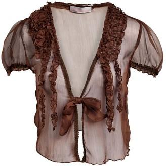 Pretty Angel Women's Blouses COFFEE(CF) - Coffee Sheer Linen-Blend Bolero - Women