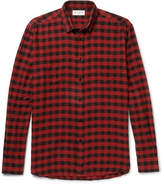 Saint Laurent Buffalo Checked Cotton-flannel Shirt - Red