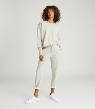 Reiss Abela - Cropped Loungewear Sweatshirt in Grey