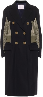 Sacai Double-breasted wool coat