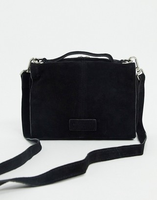 Urban Code Urbancode suede boxy cross body bag in black