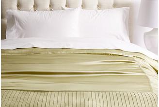 Kumi Kookoon French Pleat Silk Duvet Cover - Sage