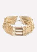Bebe Metal Bar Short Necklace