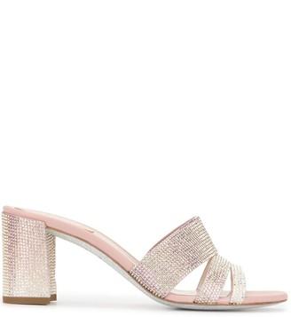 Rene Caovilla Crystal-Embellished Mule Sandals