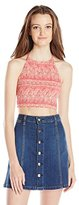 Billabong Juniors Late Night Knit Cropped Halter Top