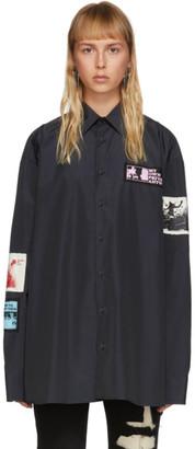 Raf Simons Black Oversized Patch Shirt