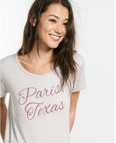 Express paris texas graphic boxy tee