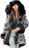 Roiii Winter New Ladies Casual Coats Women Jacket Warm Hoodies Long Trench Parka