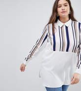 AX Paris Plus Paneled Shirt
