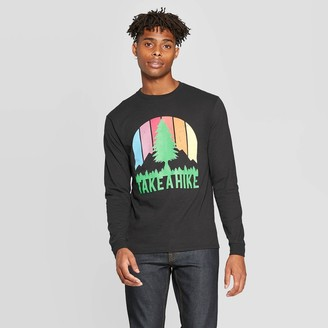 Modern Lux Men's ong Seeve Crewneck Take a Hike Graphic T-Shirt - Modern ux