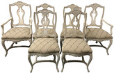 One Kings Lane Vintage French Style Dining Chairs,Set of 6 - Von Meyer Ltd. - ivory/ taupe