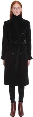 Tagliatore Jole Coat In Black Wool
