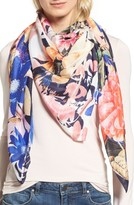 Echo Women's Floral Fun Print Square Scarf