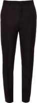 Lanvin Slim-fitting dropped-crotch wool trousers