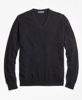 Brooks Brothers Cashmere V-Neck Sweater-Basic Colors